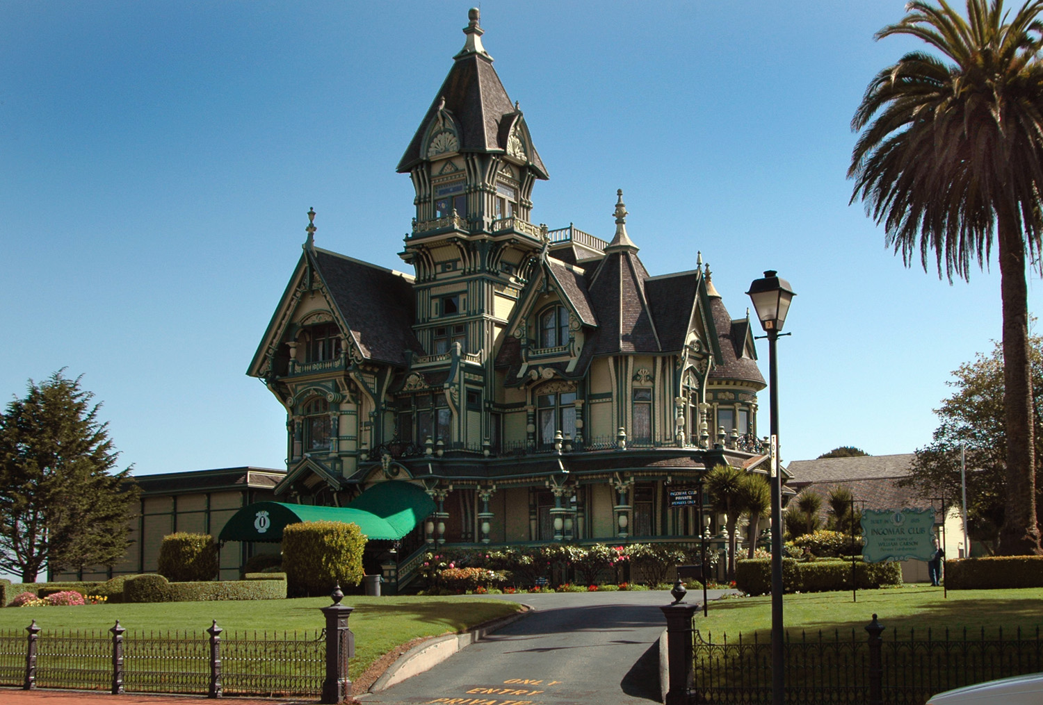 The Carson Mansion in Eureka, CA