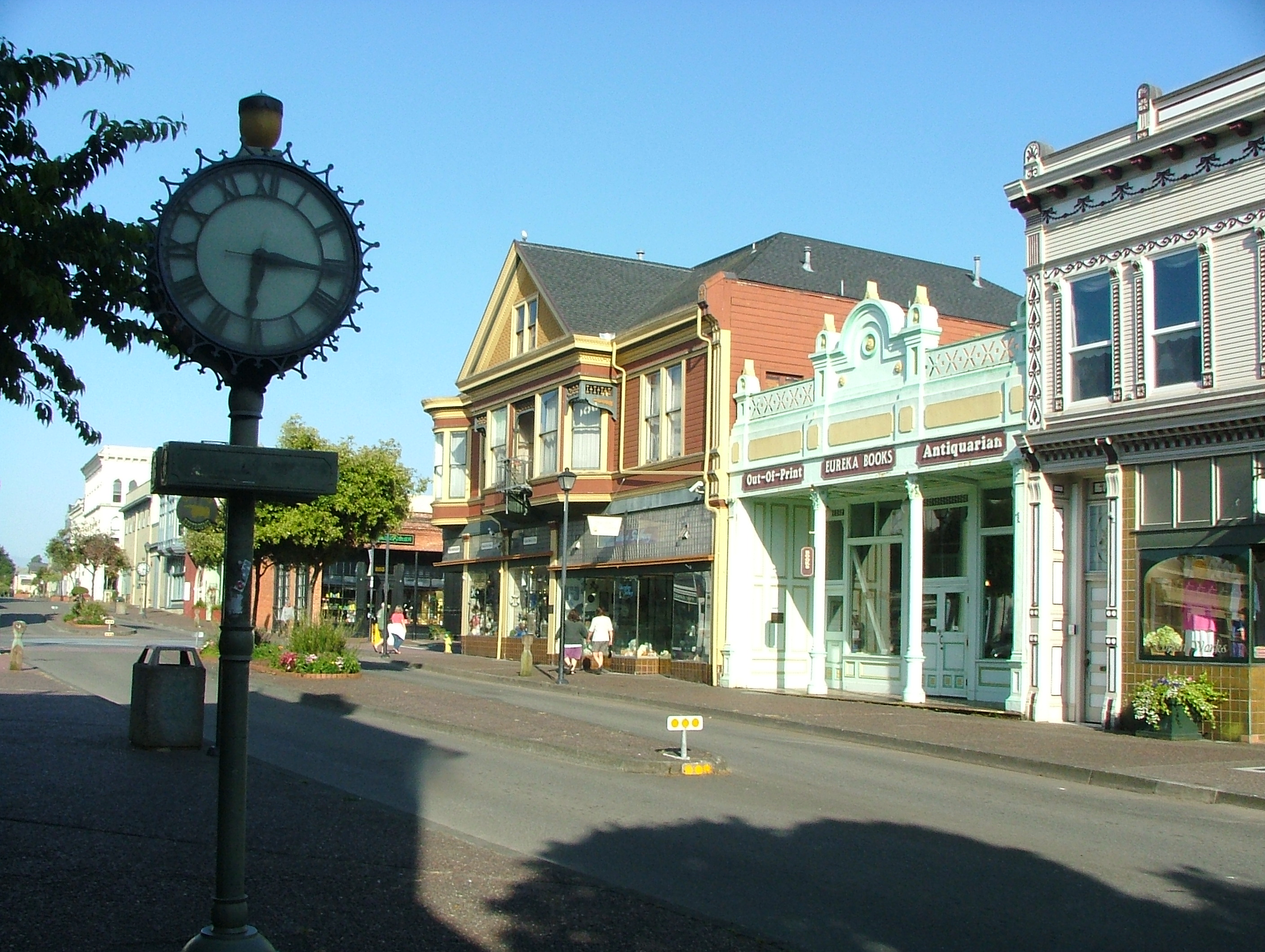 Old Town Clock in Eureka CA