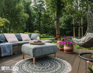 A Cozy Patio Filled with Beautiful Outdoor Furniture