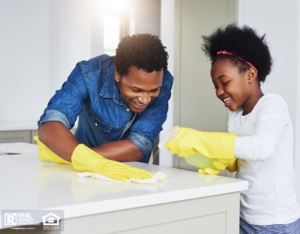 Charlotte Family Cleaning the Kitchen