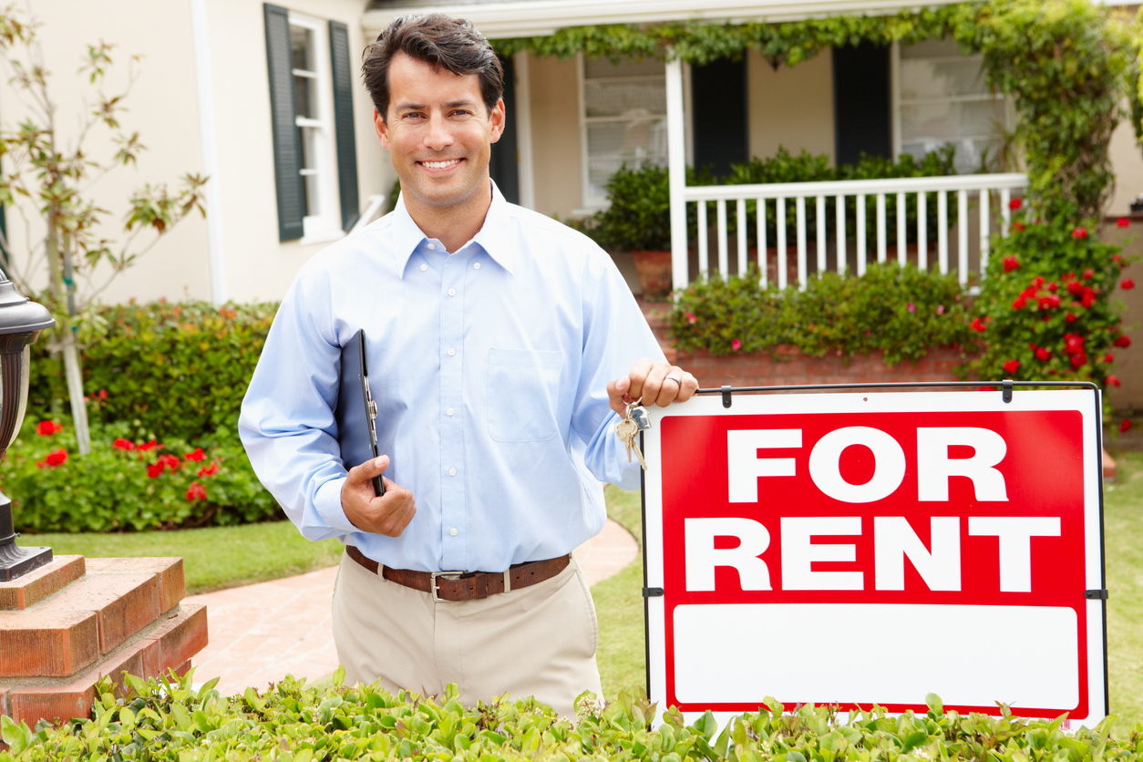 Mooresville Landlord in Front of a Short-Term Rental