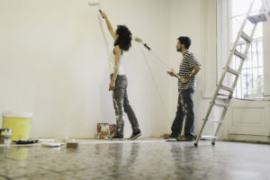Tenants Adding a Fresh Coat of Paint in Their Bellflower Rental Home