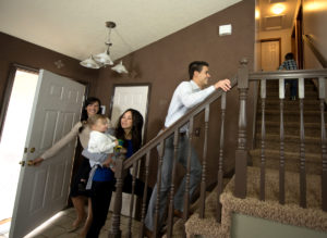 Property Management Showing a Rental Home to A Nice Family