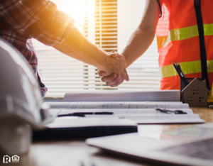 Leander Contractor and Property Owner Shaking Hands