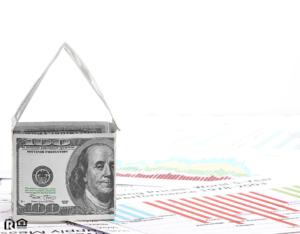 Dollar Bill Origami of a House