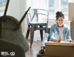 Omaha Woman with a Move-In Inspection Checklist