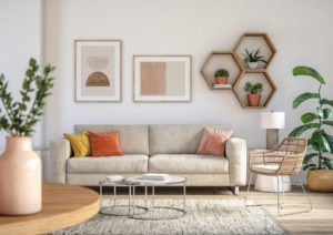 Coconut Grove Living Room with a Myriad of Helpful Houseplants