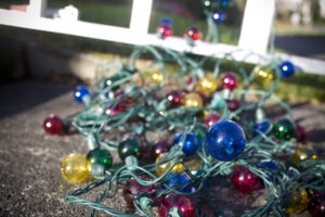 Christmas Lights Waiting to Be Hung with Care in Capitol Hill