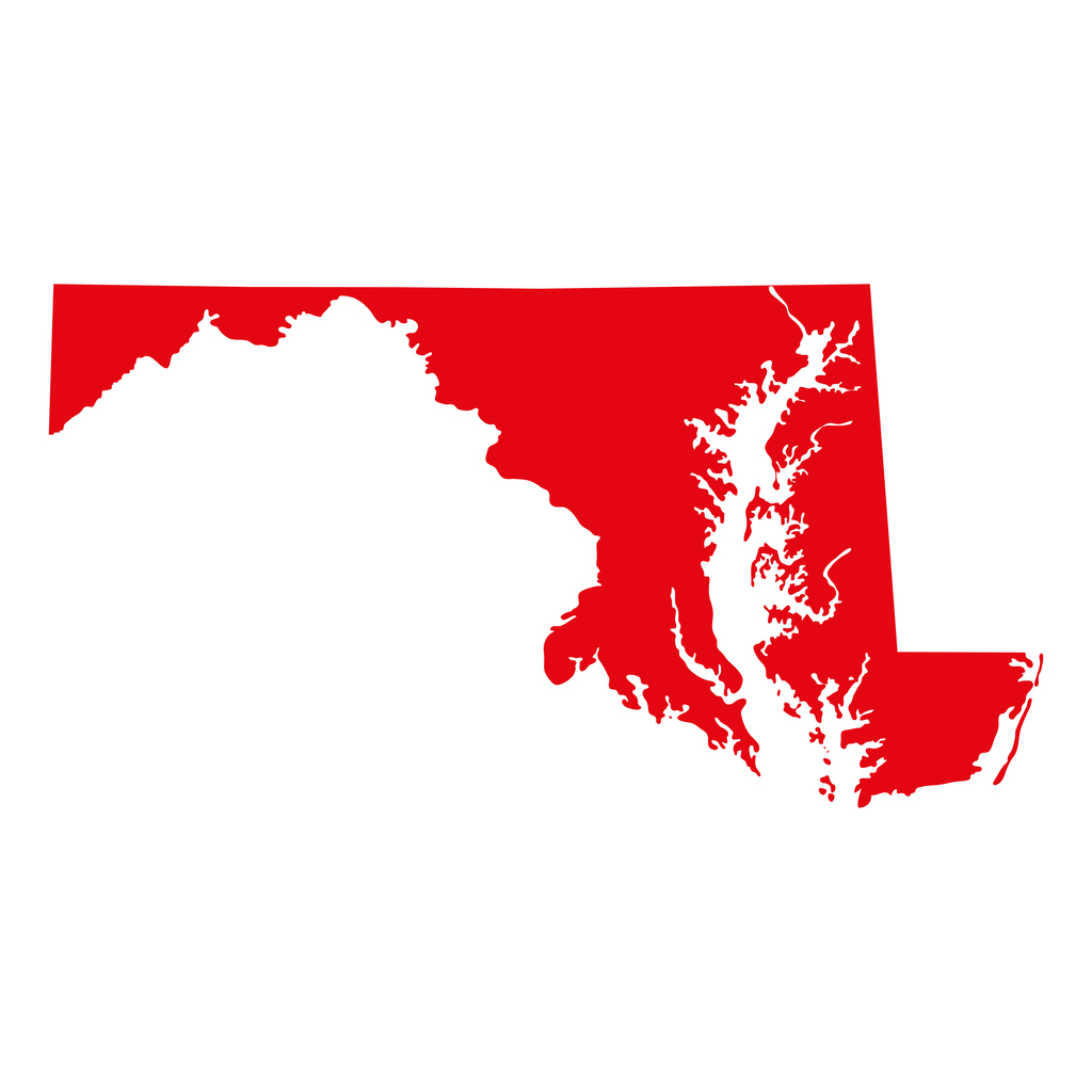 Map of the State of Maryland