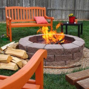 A Nice Little Fire Pit in the Backyard of your Piedmont Rental Property