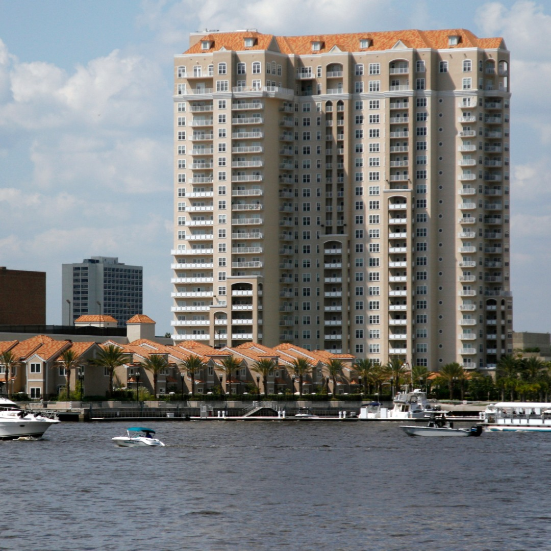 Condos on the St Johns River, Florida