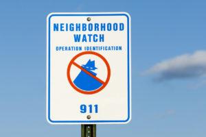 Boca Raton Neighborhood Watch Sign