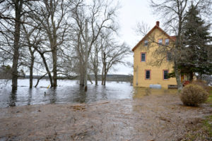 View of a Westland Rental Property After a Major Flood