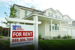Fresh Sign on a New Rental Property in Washington Corridor