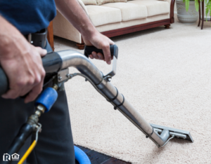 Houston Heights Carpet Cleaners Using Industrial Equipment to Clean Carpets
