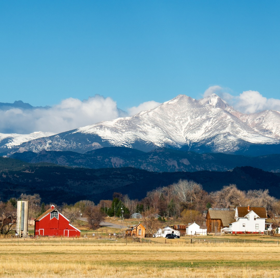 Farmland in Longmont, Colorado