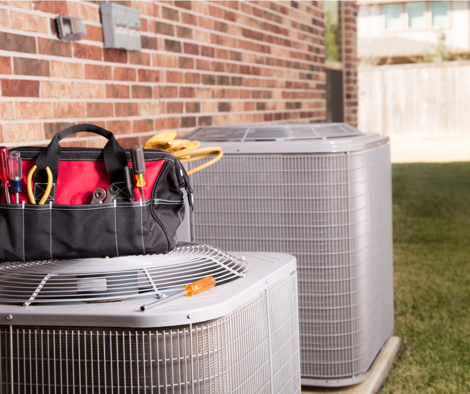 Working HVAC Unit Outside a Mead Rental Property