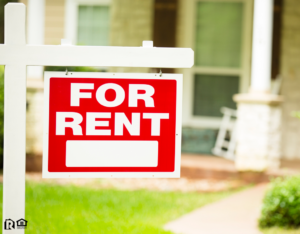 """Humble Rental Property with a """"For Rent"""" Sign in the Front Yard"""