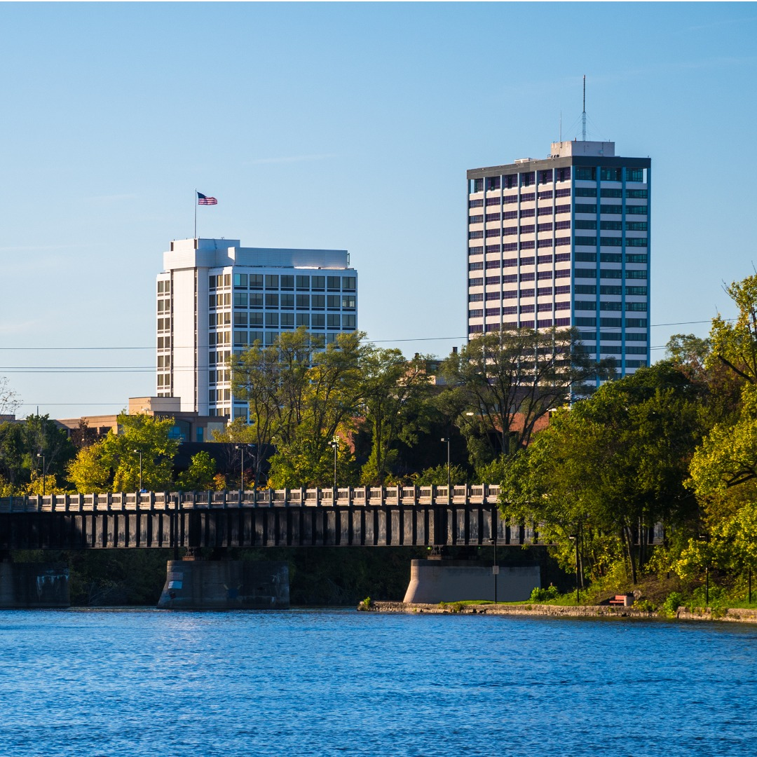 South Bend Skyline with River