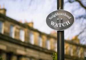 Beech Grove Neighborhood Watch Sign