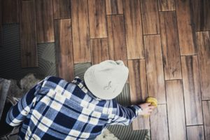 Man Installing Queen Creek Flooring