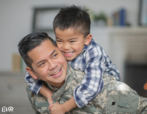 United States Soldier Being Greeted by His Young Son