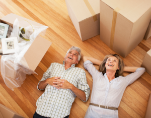 Happy Couple Moving into Highland Park Rental Home