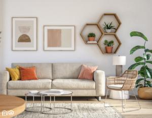 Easley Living Room with a Myriad of Helpful Houseplants