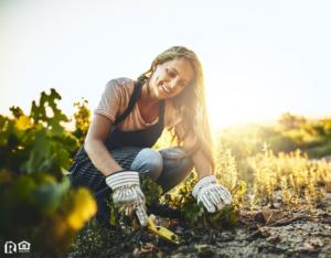Lake Nona Woman Gardening in Her Backyard