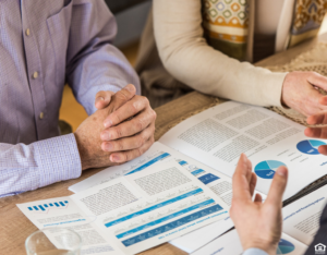 Northlake Couple Meeting with a Financial Advisor