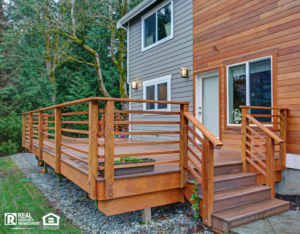 Shelburne Rental Property with a Newly Renovated Deck and Sliding Door