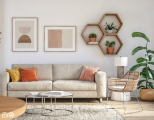 Living Room with a Myriad of Helpful Houseplants