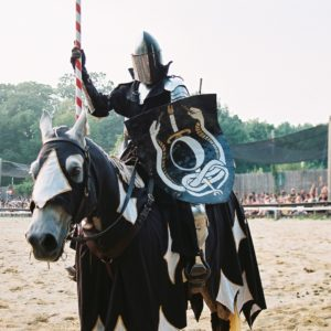 jousting knight on his horse