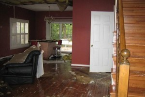 Water damage picture