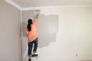 Resident Painting Walls in Rental Property