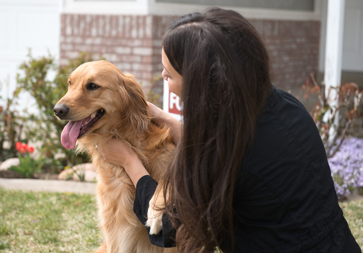 A Playa Vista Tenant Moving In to a Rental Home with her Emotional Support Animal
