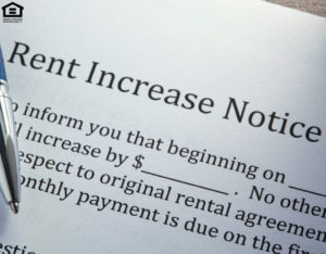 Ballpoint Pen On Top of Rental Increase Notice
