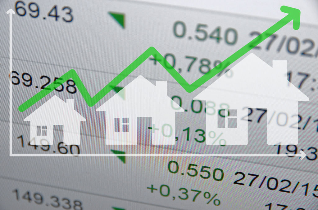 Concept of growing housing market