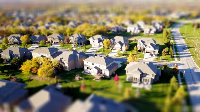 Aerial View of Model Homes