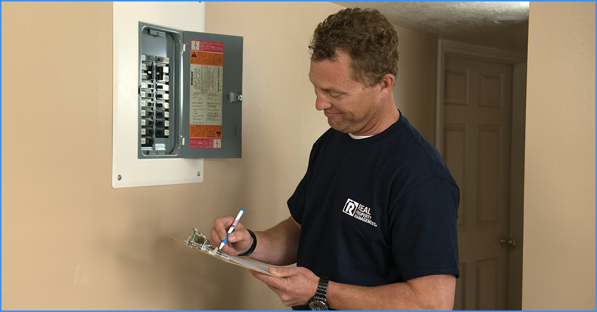 Property Manager Checking the Electrical Wiring in Your Verona Rental Property