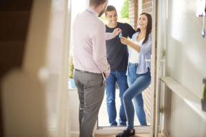 tenants receiving their property keys