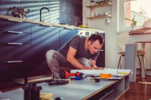 Columbus Landlord Repairing the Kitchen Cabinets