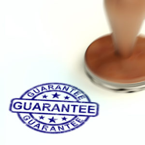 Guarantee concept icon means a safeguard or insurance against product faults.