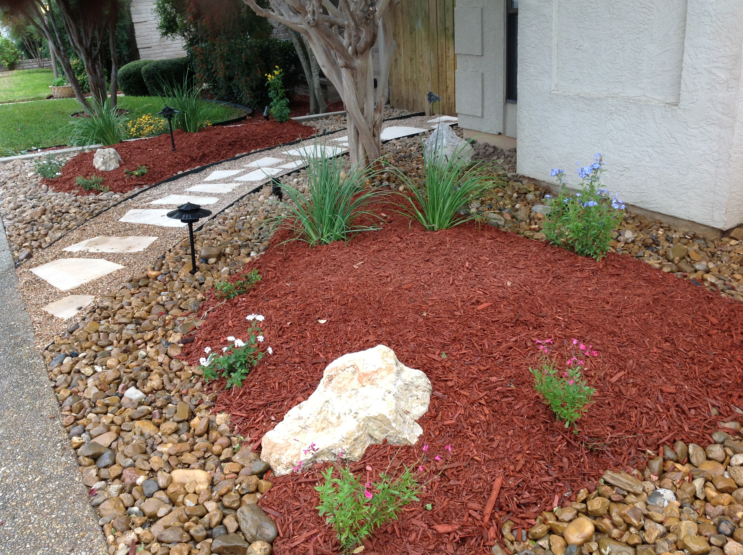 Xeriscape Front Yard To Help With Low Water Usage Real Property Management East San Gabriel Valley