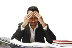 man at work stressing
