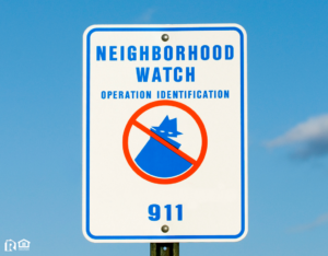 Hurricane Neighborhood Watch Sign