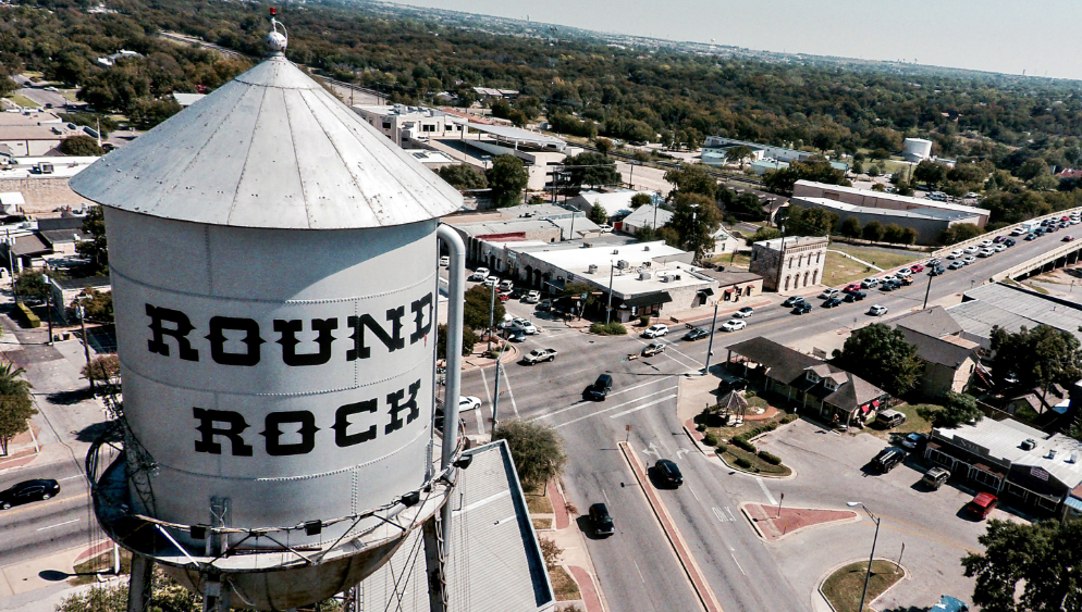 Water Tower in Round Rock TX