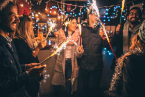Round Rock Tenants Having Fun with Fireworks on New Year's Eve