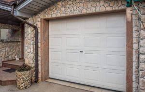 View of the Garage Door on a Dover Rental Property