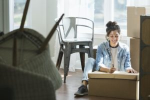 Brookline Woman with a Move-In Inspection Checklist